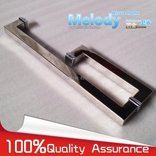 Frameless Shower Door Square tube Handle L shape 304 stainless steel Chrome h007lr frameless bath room shower glass door square tube handle l shape with r 304 stainless steel polish chrome
