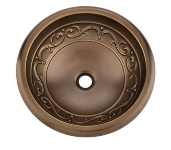 Round Vessel Sink | Classic Wash Basin Sink Antique Bronze Basin Handmade Copper Sink,Copper Vessel Sink,Brass Under Counter Basin / Countertop SinK