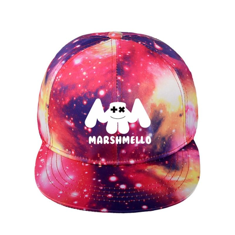 223514e611a87 New arrival baseball cap 3D printing Marshmello Casual cap gorras hip hop  snapback hats kpop Starry