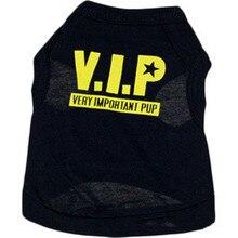 2016Cotton Black Classic VIP pet dog clothes and vest