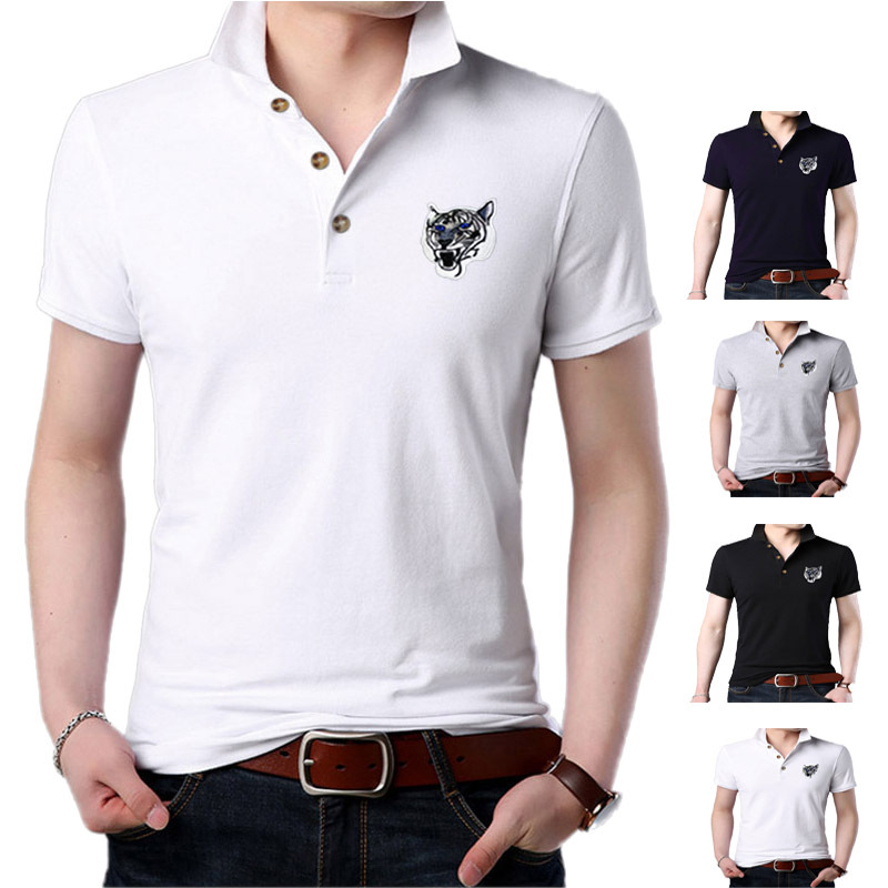 US $11 68 30% OFF|Men Summer Polo Shirt 2019 Brand Men's Fashion Cotton  Short Sleeve Polo Shirts Male Solid Jersey Breathable Tops Tee-in Polo from
