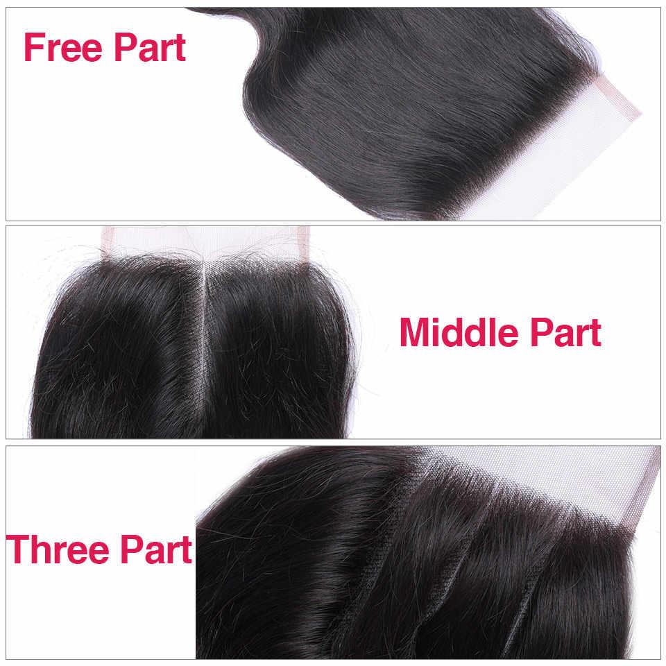 Queen Love волосы перуанские волосы 3 пучка с закрытием перуанские волнистые человеческие волосы пучки с закрытием не реми волосы