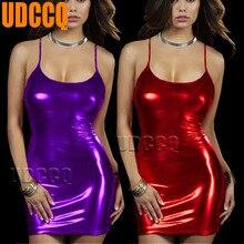 Sexy Underwear Babydoll woman glisten Metallic PVC Lingerie underwear Stripper Party night