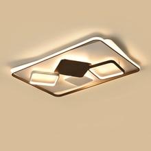New Brown and white Modern Led ceiling lights For Livingroom Bedroom Foyer led avize Aluminum Iron lamp 110V/220V
