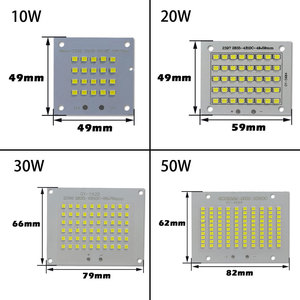Image 4 - 100% Full Power LED Floodlight PCB 10W 20W 30W 50W SMD2835 LED Lamp led PCB board Aluminum plate for led 10 20 30 50W floodlight