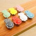 5 pcs Crianças quarto gaveta do armário da cozinha maçaneta da porta lidar com animais de cerâmica doces coloridos punho da mobília