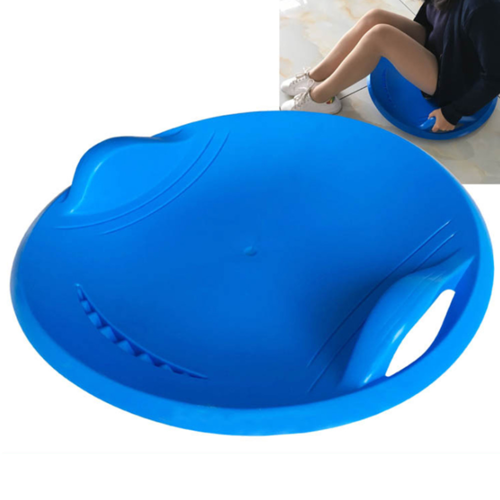 57CM Diameter Adult Children Snow Board Grass Skiing Snowboard Skiing Sleigh Ski Pad Winter Sports Thicken Plastic