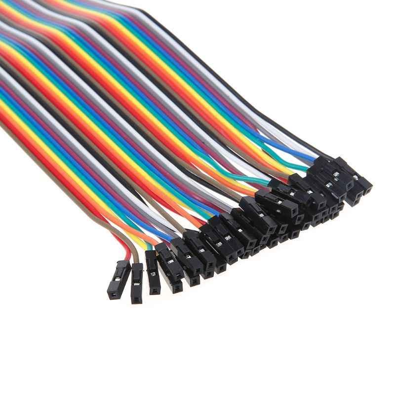Ligne de fil de cavalier de câble de 40Pin Dupont 2.54mm mâle au câble de connecteur femelle 10/20/30CM