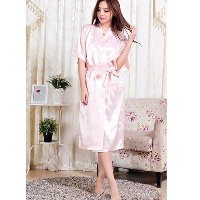 b7188afb9f 2015 Women Satin Silk Bathrobes Japanese Yukata Kimono Gown Vintage Robe  Sleepwear Sexy Lingerie Nightgowns Plus Size S-XXXL
