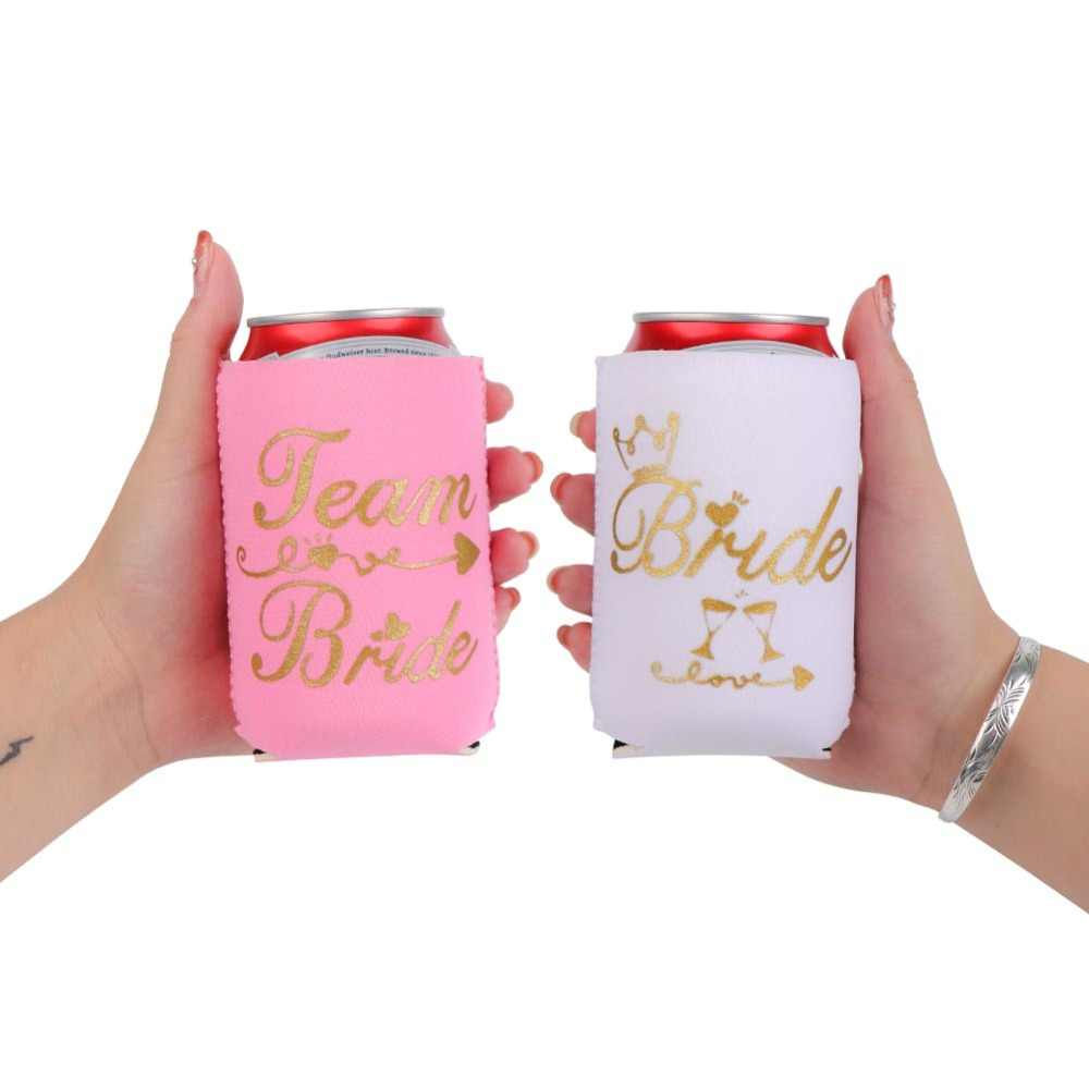 adbb50b63f OurWarm 1pc Bride Bachelorette Party Hangover Kit Bags Beer Can Cooler  Bottle Covers Wedding Favor Baby Shower Party Decoration