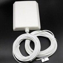 1800-2600 MHZ 4G LTE TDD 10db antena Mimo Al Aire Libre 2 * sma macho con 10 m cable