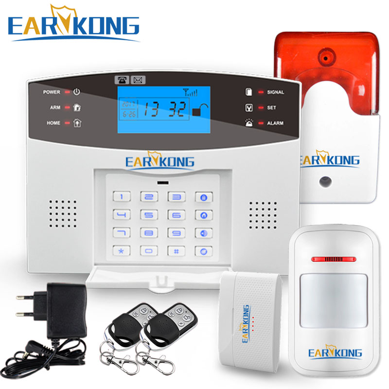 Home Security GSM Alarm System Wired & Wireless 433MHz Detector Alarm English Russian Spanish French Italian Voice Sensor Alarm big promotions english russian spanish french italian voice wireless gsm alarm system home security alarm systems lcd keyboard