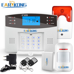 Home Security GSM Alarm System Wired & Wireless 433MHz Detector Alarm English Russian Spanish French Italian Voice Sensor Alarm