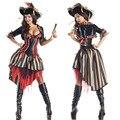 Фиолетовый пираты карибского моря Костюм Женский Pirate Fancy Dress Костюмы Пираты Костюмы для Хэллоуина
