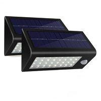 32 LED 550 Lumens 2pack Lot Ultra Bright Outdoor Solar Powered Lamp Motion Sensor Wall Detector