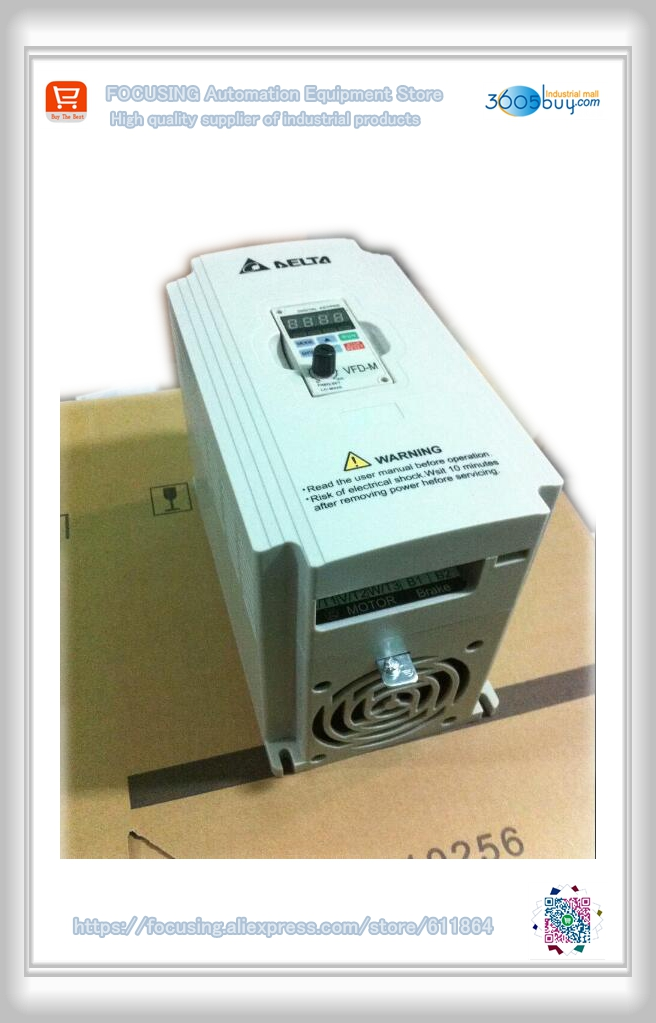 New original Frequency converter VFD015M43B 380V 1.5Kw 2HP 4A 400HZ new original frequency converter sd600 2s0004 0 4kw 220v general series