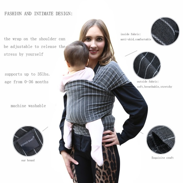 Baby Carrier Sling For Newborns Soft Infant Wrap Breathable Wrap Hipseat Breastfeed Birth Comfortable Nursing Cover Dark Grey