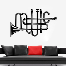 Music Tools Wall Sticker Music Popular Design Wall Art Mural Music Lovers Home Decor Vinyl Decals for Music Enthusiasts AY1074 music