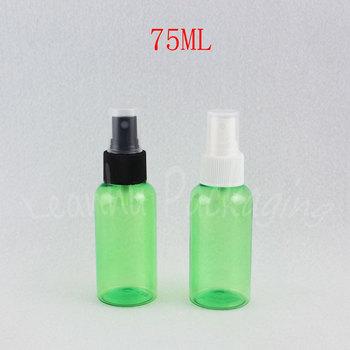 75ML Green Plastic Bottle With Spray Pump , 75CC Toner / Water Protable Travel Packaging Bottle , Makeup Sub-bottling