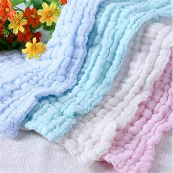 5pcs/lot 6layers Bottom Water Washing  Handkerchief Newborn Baby Face Towels  Nursing Towel Size30*30