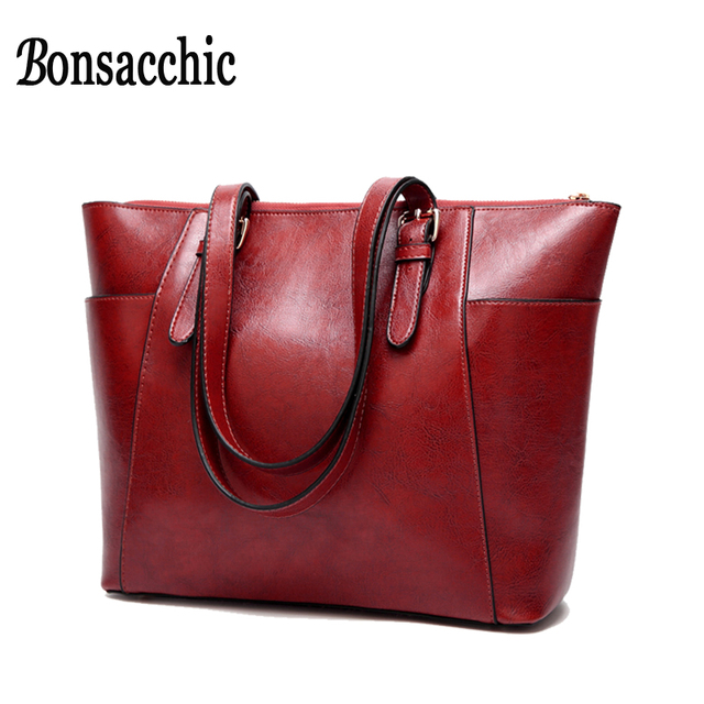 e20fc105a51 Bonsacchic Red Women Handbags Black Hand Bag for Women 2018 Luxury Handbags  Women Bags Designer Ladies