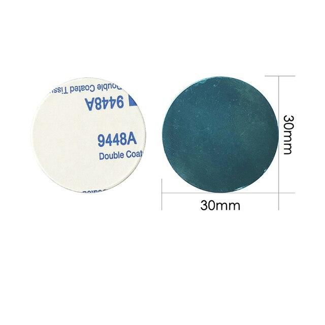 1 stücke/3 stücke/5 stücke 30x 0,3mm Metall Platte disk eisen blatt für Magnet Handy halter Für Magnetische Auto Telefon Stand inhaber