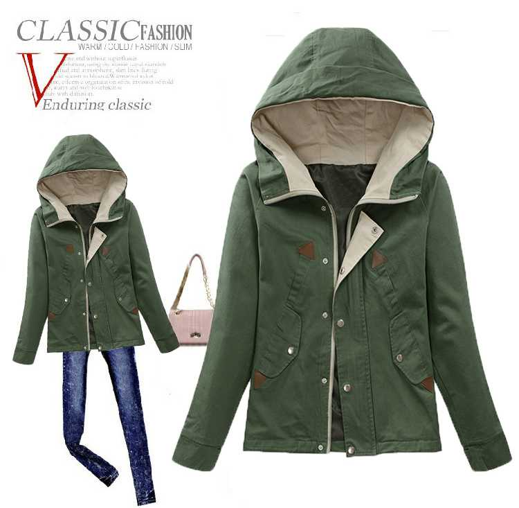 e77aa3c18 US $49.53 |Women Spring Jackets 2015 Womens Military Jackets and Coats Army  Green Long Sleeve Woman Clothes Slim Famale Coat Outwear H4935-in Basic ...