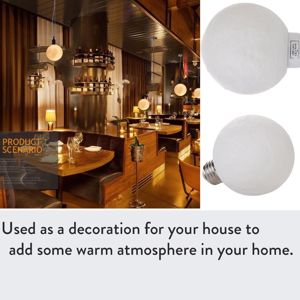 3D LED Magical Moon Night Light E27 3W 110V 220V 3D Printing LED Moonlight Lamp Home Decor Warm Cool White Bulb Creative Gift