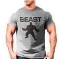 Nova marca clothing desgaste gorila ouros musculação homens fitness besta impresso camisetas camisetas topos de longarina