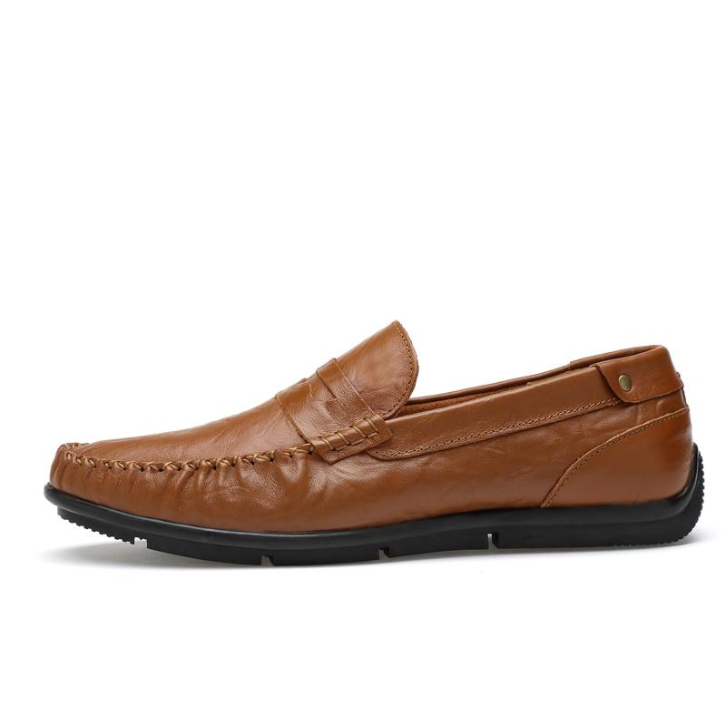 Taille Luxe blue En Chaussures Grande yellow brown Doux Mocassins 100 Cuir Marque Black Sur Décontractées Véritable Slip Appartements De Hommes wZTqF7F