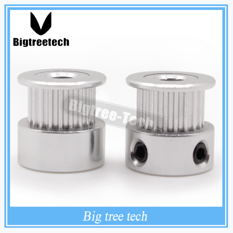 GT2 Timing Pulley 20 teeth Alumium Bore 5mm fit for GT2 belt Width 6mm free shipping with lower price