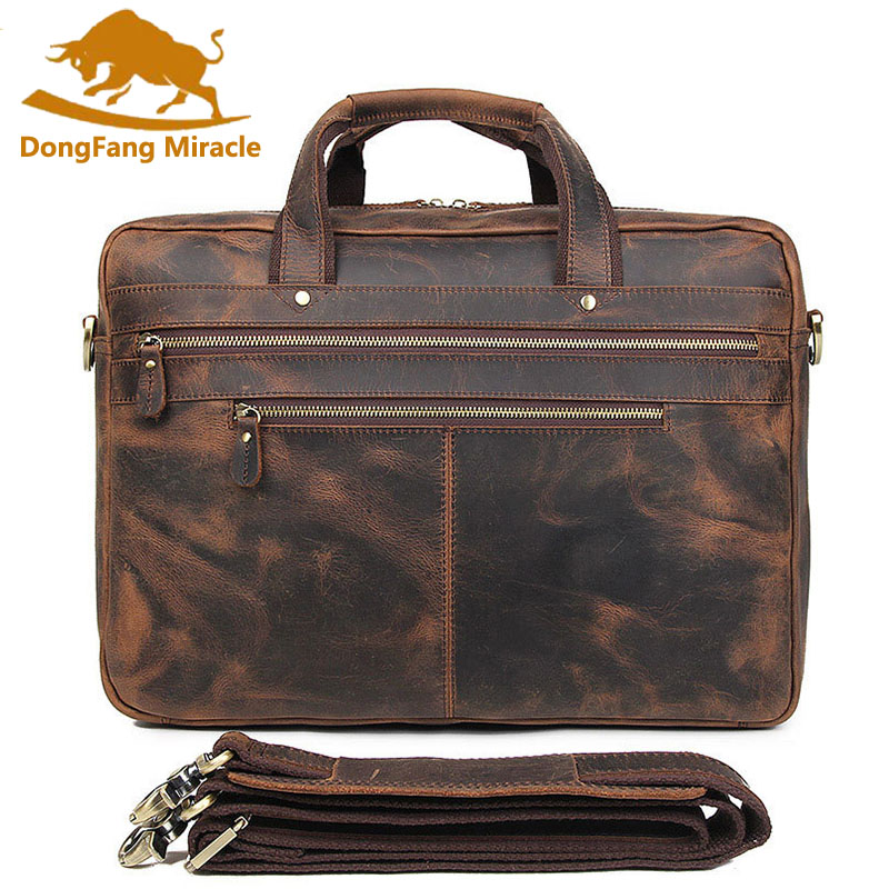 Brand Top Crazy Horse Leather Mens Business Briefcase Large Capacity Handbag Multi-layer 17 inch Laptop Bag Travel BagsBrand Top Crazy Horse Leather Mens Business Briefcase Large Capacity Handbag Multi-layer 17 inch Laptop Bag Travel Bags
