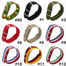 18 mm  20mm 22mm Strong Military Army Light Yellow Navy nato fabric Nylon Watch Watch Band Woven Straps Band Buckle 18mm For wat