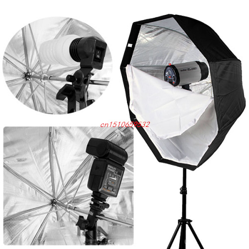 Professional Studio 80cm Octagon Softbox Selens umbrella Brolly Reflector soft box For Speedlite Flash Light ...