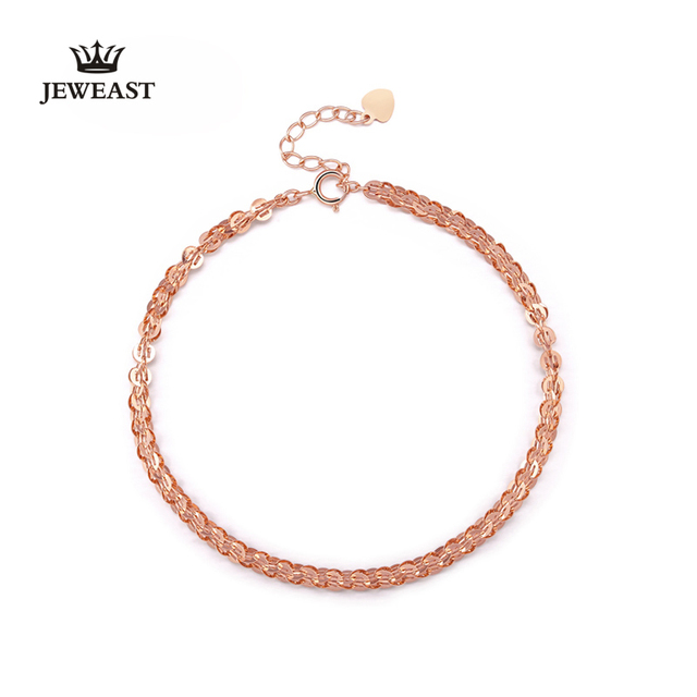 Jeweast 2017 das mulheres 18 k ouro rosa pulseira com instricate projeto moda feminina & trendy diamante-jóias para o casamento ou festa