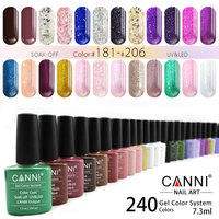 #30917 CANNI 7.3ml UV Gel Nail Polish 239 Color Nail Gel Polish Semi Permanent Top Base Coat Gel Lak Varnishes Gelpolish
