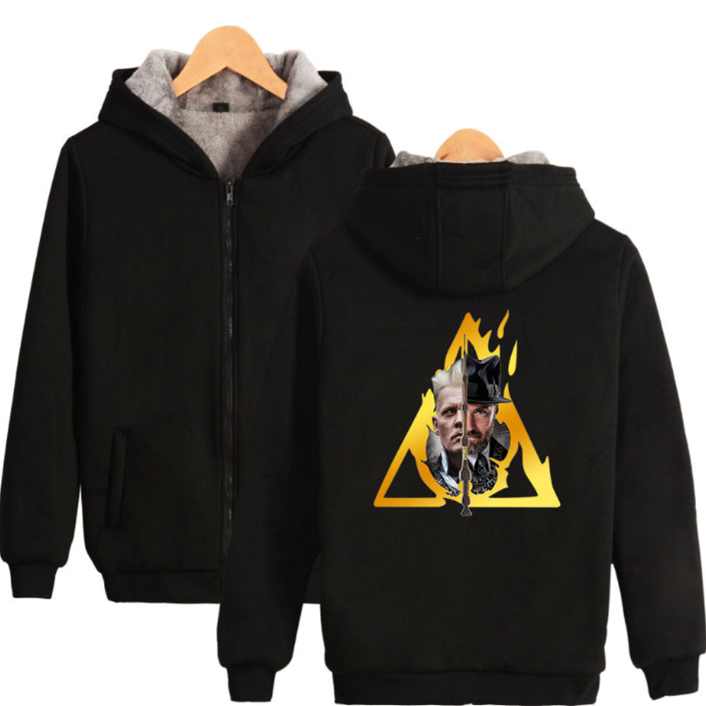 Fantasy Beasts Hoodies and Where to Find Them Sweatshirt The Crime Men Adults Thicken Zipper Hooded Jackets Winter Warm Coat