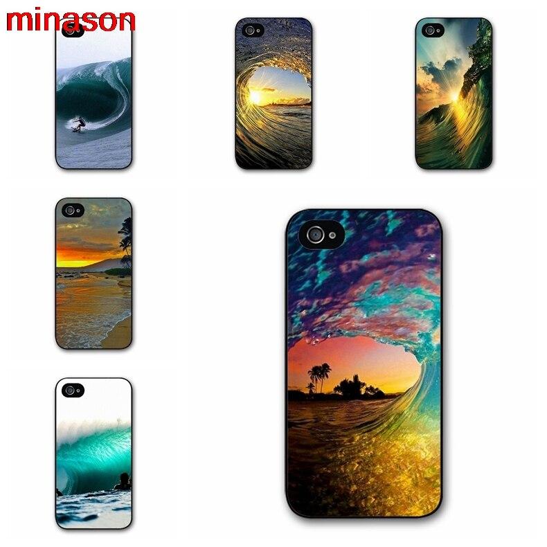 Minason Сёрфинг в Гавайи океан сцены чехол для iPhone 4 4S 5 5S 5C 6 6S 7 7 8 плюс Samsung Galaxy S3 S4 S5 S6 k0436