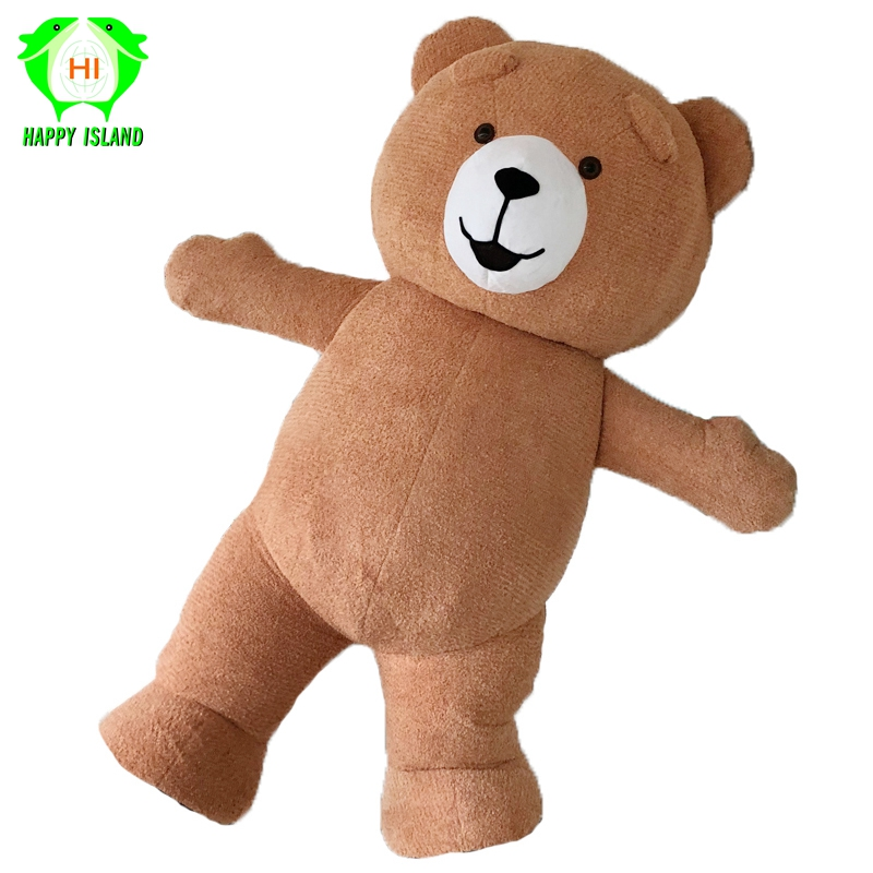 Teddy Bear Inflatable Costumes for Advertising Customize 3M Tall Suitable for 1.7m To 1.9m Adult Halloween Cosplay Costume