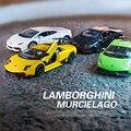 В штучной упаковке 5 дюймов моделирование сплава модели автомобиля Lamborghini Gallardo Murcielago Reventon Три модели различных цветов дети toys