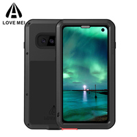 LOVE MEI Metal Armor Case for Samsung Galaxy S10 360 Full Protective Dirt Proof Water Resistant Cover for Galaxy S10E