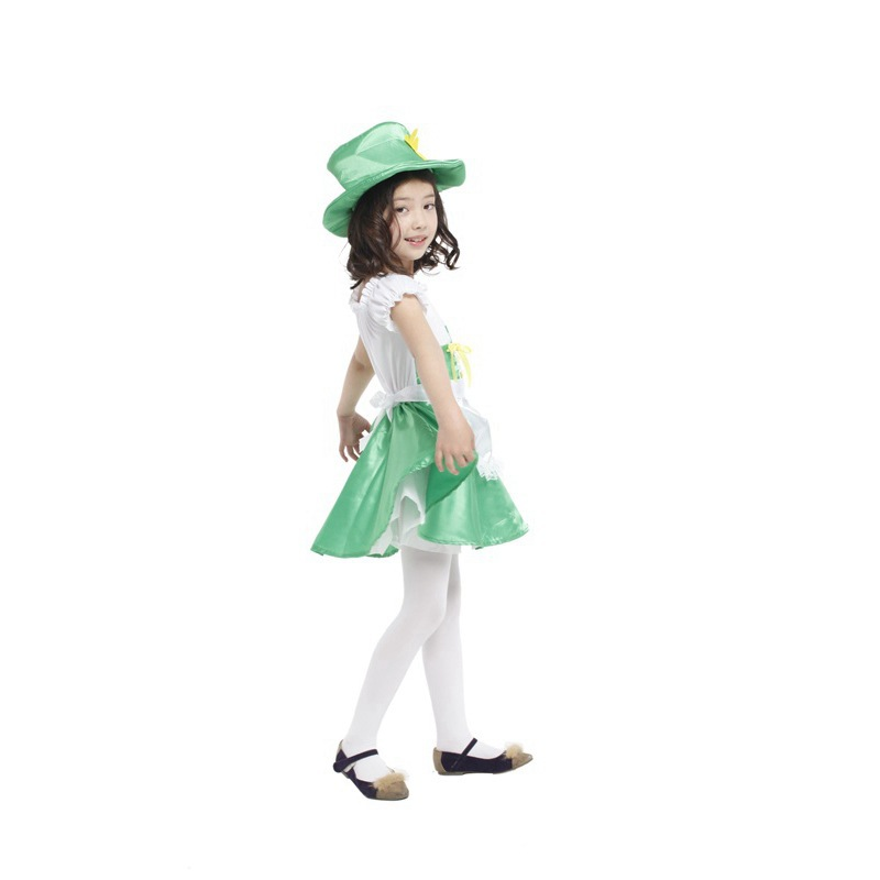 buy girl fantasia disfraces halloween party costumes for children cosplay ireland elf green costume kids stage performance clothes from