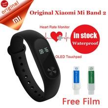 Original xiaomi inteligente pulseiras pulseira relógio pulseira banda 2 de fitness xiaomi miband mi 2 oled monitor de sono com a freqüência cardíaca(China (Mainland))