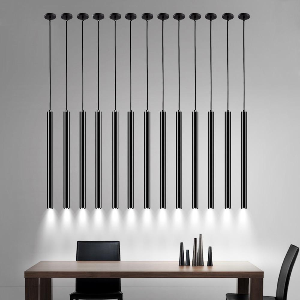 1 Pcs LED Restaurant Pendant Lights 3W Simple Cylindrical Pendant Lamps Nordic Bar Indoor Lighting AC90-260V Handlamp Luminaire