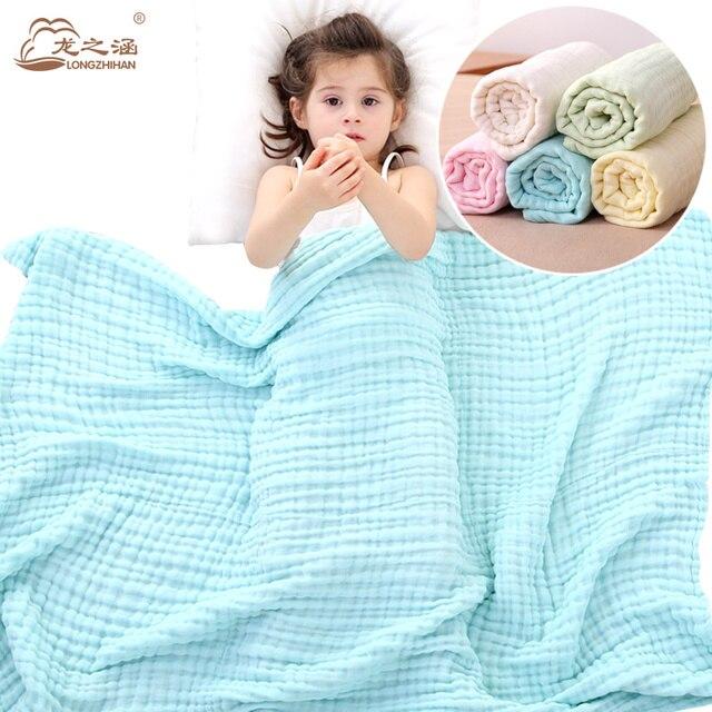 baby blanket Muslin Cotton 6 layer super soft Newborn Baby Swaddling Sleeping blankets bedding Spring and summer Bath Towel