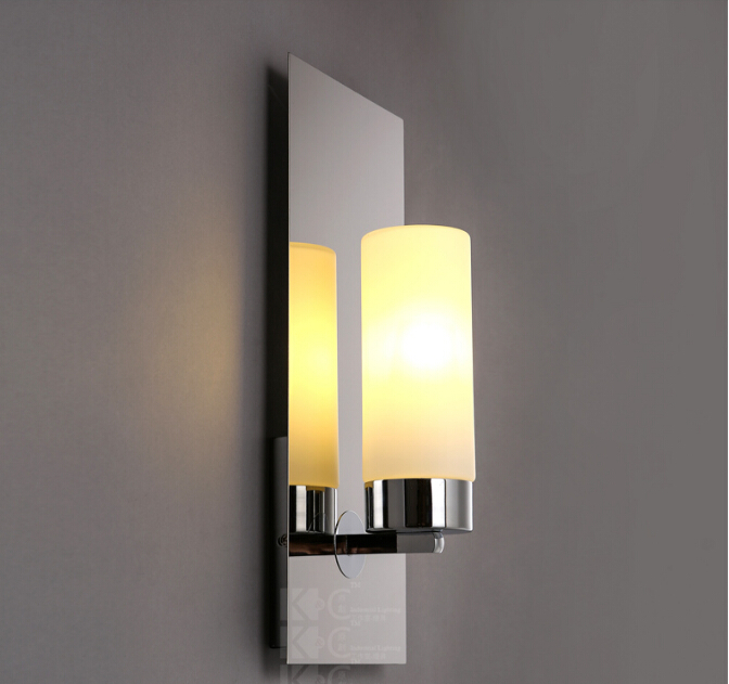 New chrome modern led wall lamps sconces lights bathroom kitchen new chrome modern led wall lamps sconces lights bathroom kitchen wall mount lamp cabinet fixture candlestick candle wall sconce in led indoor wall lamps aloadofball Images
