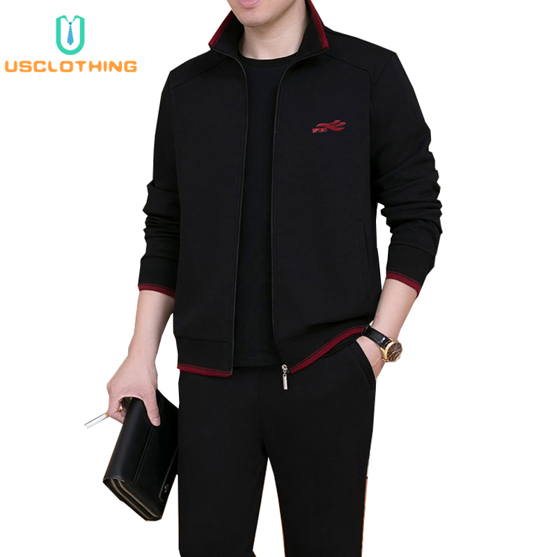 3Piece Set Brand Tracksuit Men New Fashion Sweat Suit Tracksuit Three-piece Sweatershirt Set Casual Mens Sportswear Sets NBA45BF