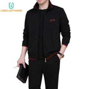 Image 1 - Комплект спортивной одежды NBA45BF мужской, брендовый модный тренировочный костюм, комплект из трех предметов, повседневная одежда