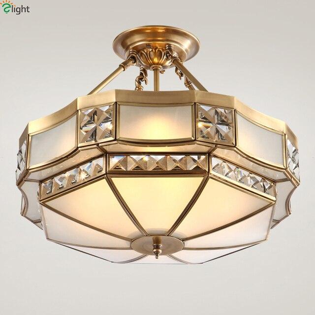 L Europe Lustre En Cristal Led Lustres Luminaires En Cuivre Chambre