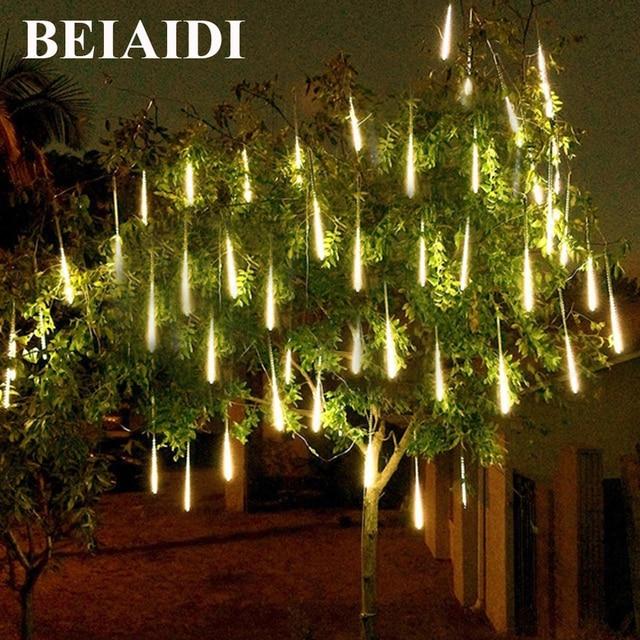 BEIAIDI 2pc Meteor Shower Rain Light 30/50CM Falling Rain ...